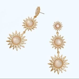 LILLY PULITZER Star of the Sea Gold Drop Earrings